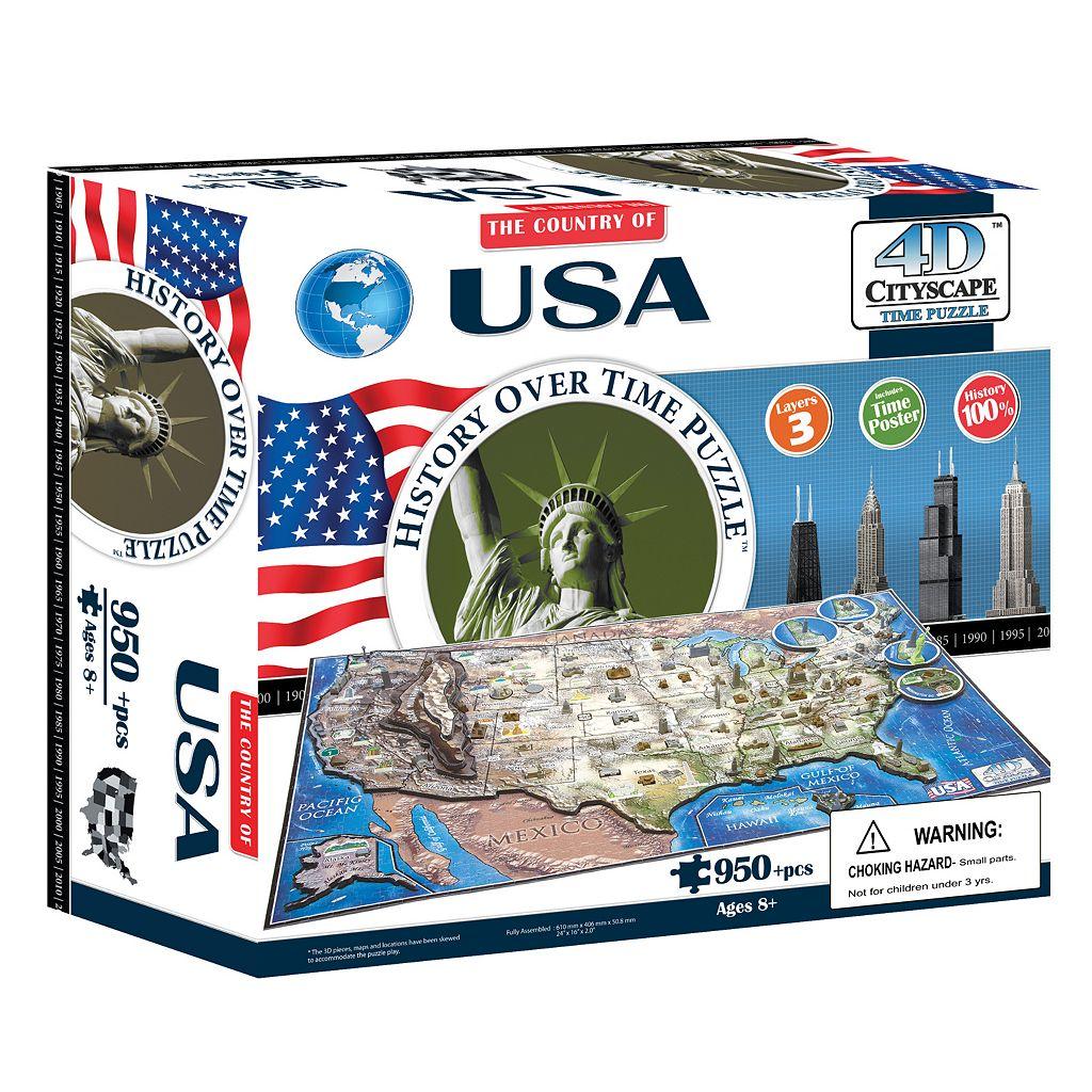 4D Cityscape USA Time Puzzle