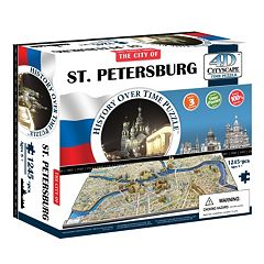 4D Cityscape St. Petersburg Time Puzzle by