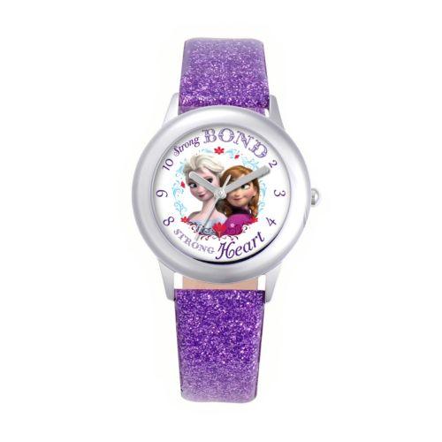 Disney Frozen Watch - Juniors' Anna & Elsa Leather