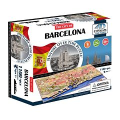 4D Cityscape Barcelona Time Puzzle by