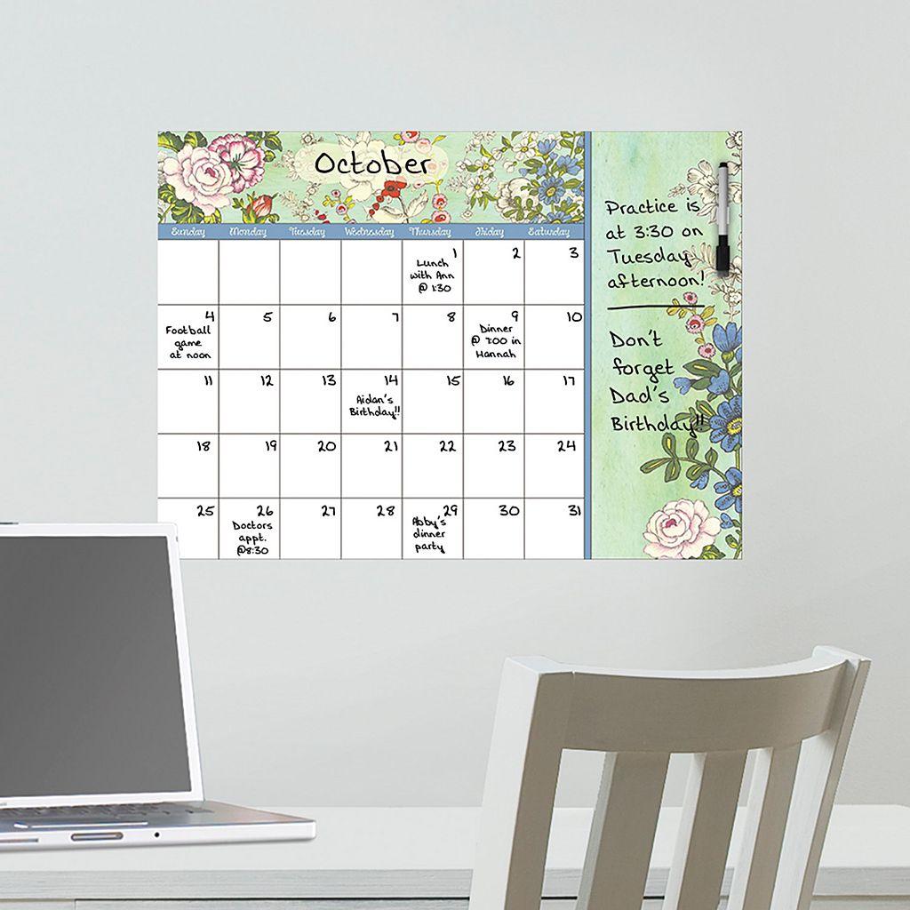 WallPops Vintage Bazaar Monthly Calendar Wall Decal