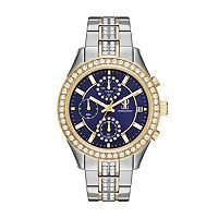 Jennifer Lopez Women's Marilyn Crystal Two Tone Stainless Steel Watch