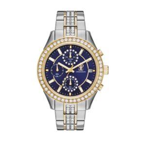 Jennifer Lopez Women's Marilyn Crystal Two Tone Stainless Steel Watch