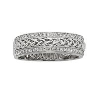14k White Gold 1/4-ct. T.W. Diamond Braided Wedding Ring