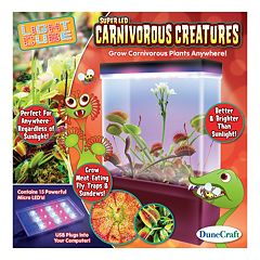 Carnivorous Creatures LED Light Cube Terrarium