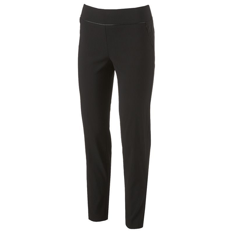 Candie's Slimming Technology Faux-Leather Piping Trouser Pant - Juniors