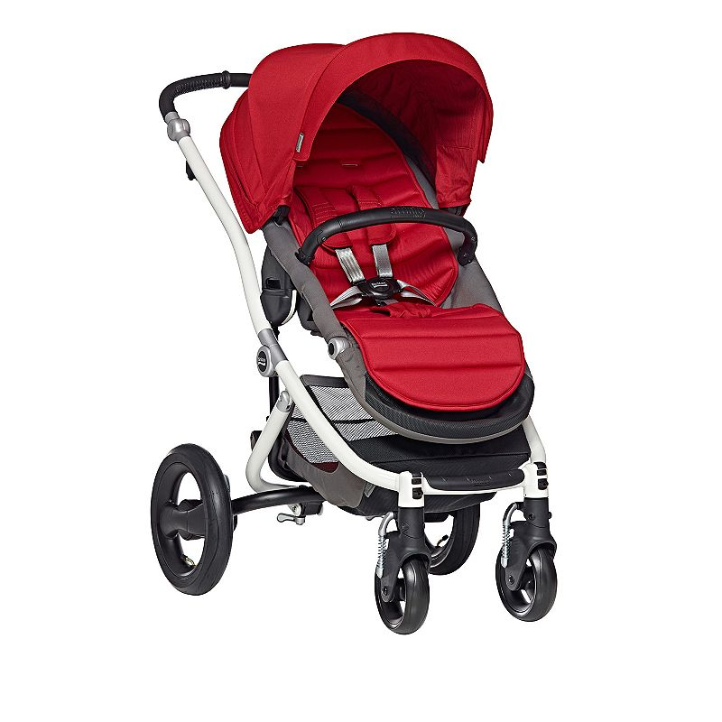 Britax Affinity Stroller with Color Pack, White Red Pepper