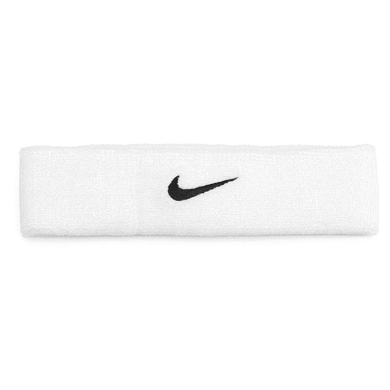 Nike Swoosh Headband - Unisex, Natural The Nike swoosh headband is designed to absorb sweat so you can always see the finish line. Embroidered signature swoosh logo Stretchy construction for a comfortable fit. FABRIC & CARE Cotton/nylon/polyester/rubber Machine wash Imported Size: One Size. Color: Natural. Gender: male. Age Group: adult.