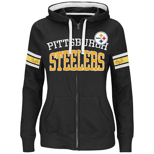 Majestic Pittsburgh Steelers Pure Heritage VI Fleece Hoodie - Women s 1ff9ea27db