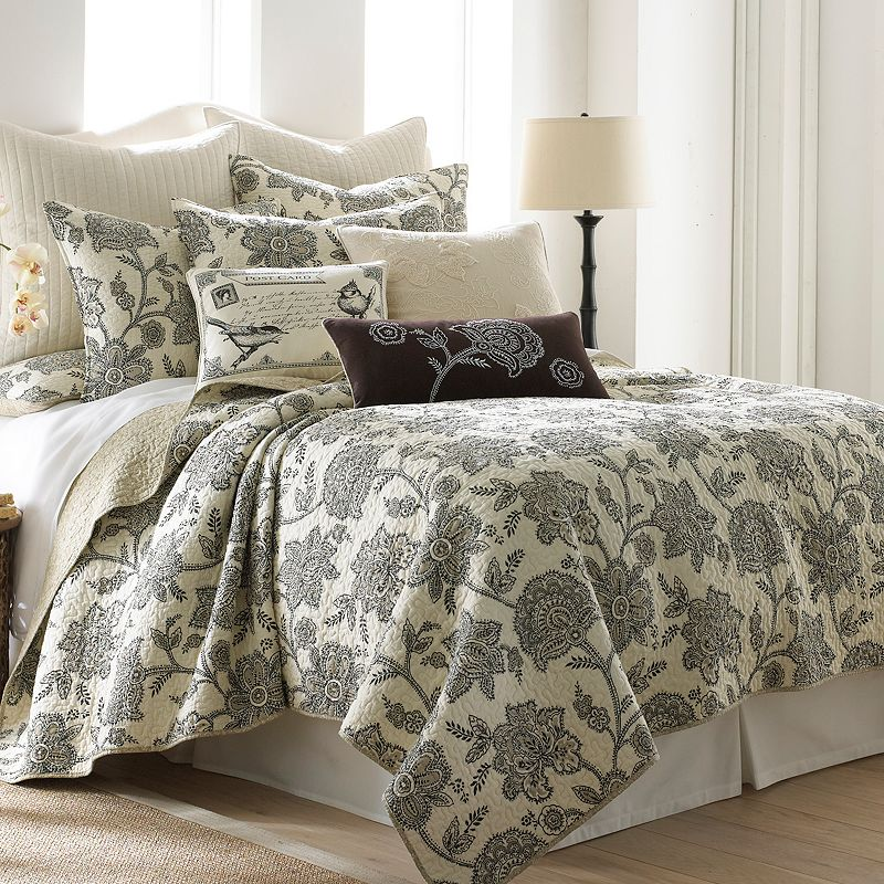 Gray Palladium Quilt Set : Grey reversible quilt set kohl s