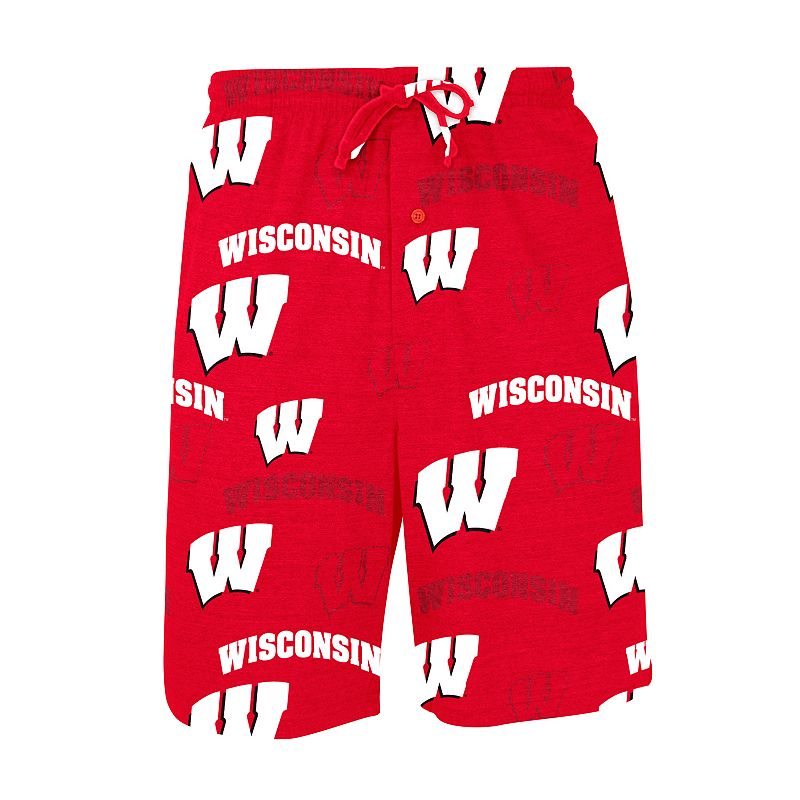 College Concepts Wisconsin Badgers Insider Knit Shorts - Men
