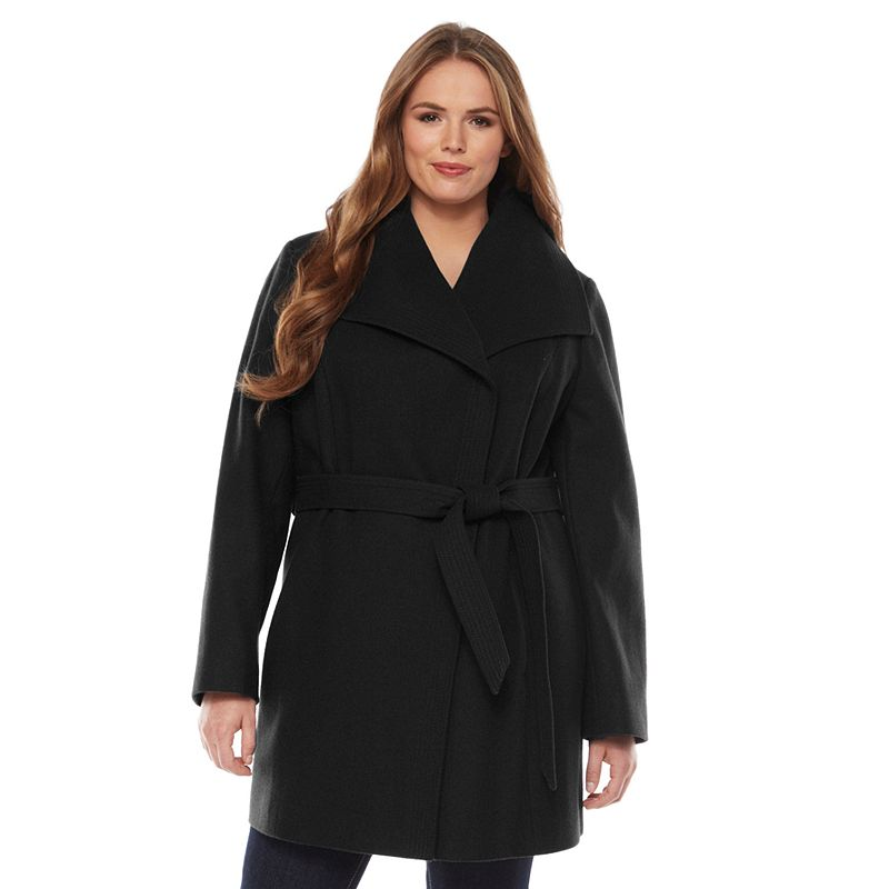 Apt. 9 Boucle Wool Blend Trench Coat - Women's Plus