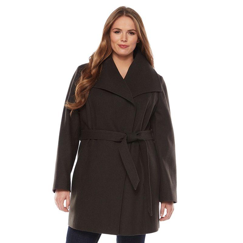 Apt. 9 Boucle Wool Blend Trench Coat - Women's Plus
