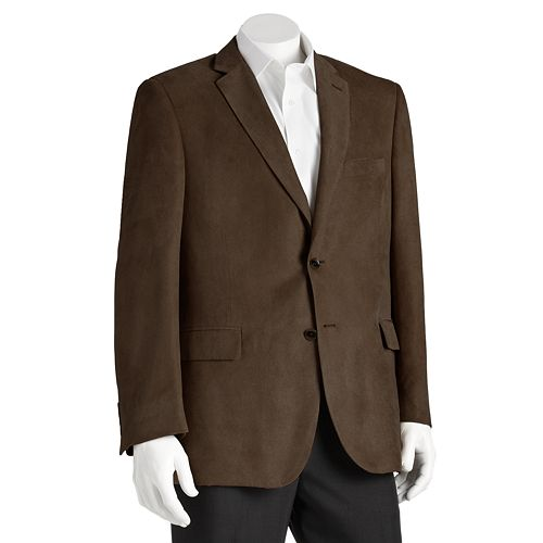 Jean-Paul Germain Big and Tall Soft Touch Microfiber Blazer