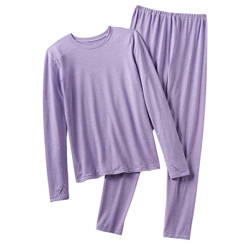 Cuddl Duds Warmwear Solid Long Underwear Set - Girls