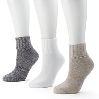 SONOMA Goods for Life™ 3-pk. Marled Crew Socks - Women