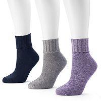 SONOMA Goods for Life™ 3-pk. Marled Crew Socks - Women