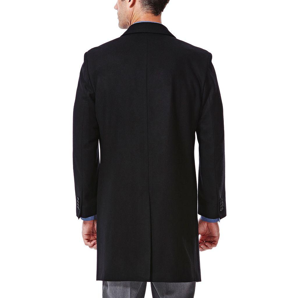 Men's Haggar® Classic-Fit Melton Wool-Blend Coat