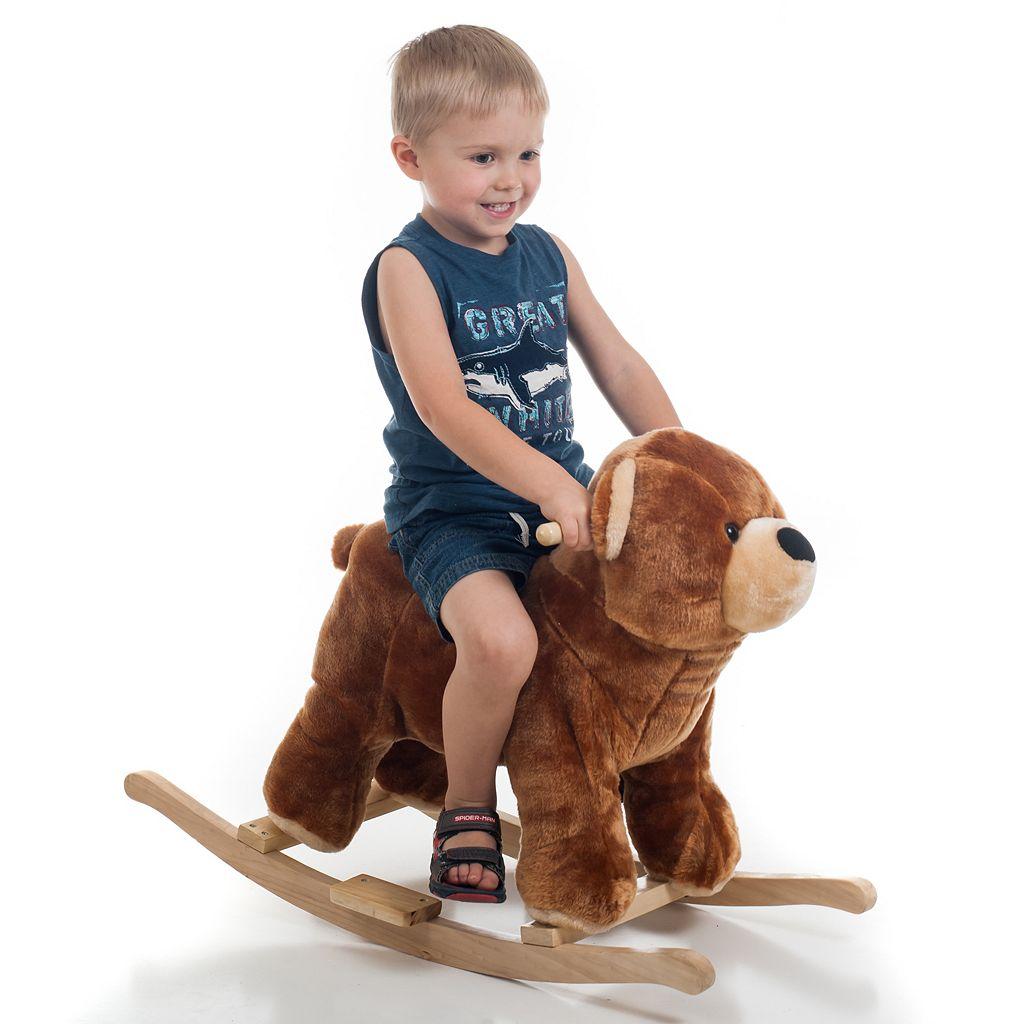 Happy Trails Plush Rocking Bear