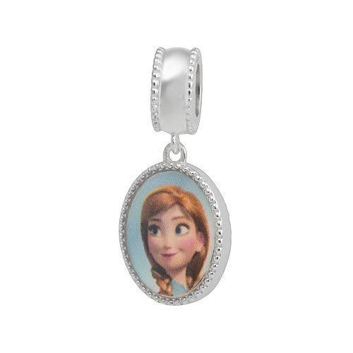 Disney Frozen Sterling Silver Anna & Elsa Reversible Charm