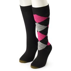 GOLDTOE 2-pk. Argyle Knee-High Socks