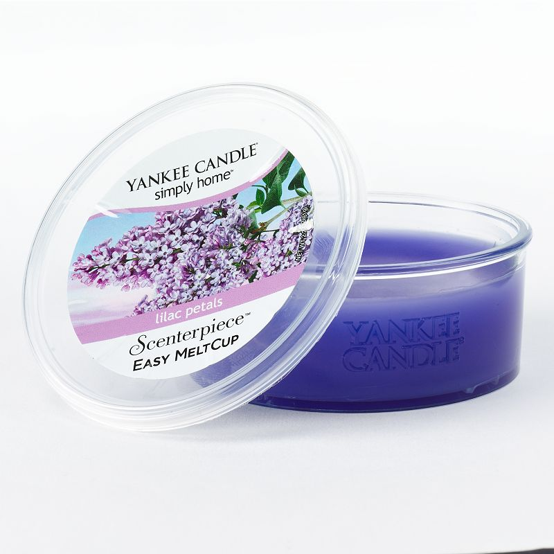 Yankee Candle Simply Home Scenterpiece 2 2 Oz Lilac Petals Wax Melt Cup