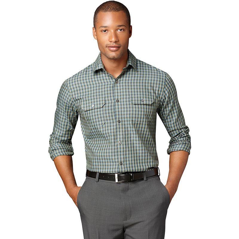 2 pocket button shirt kohl 39 s for Van heusen plaid shirts