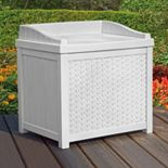 Suncast 22-Gallon Wicker Storage Seat