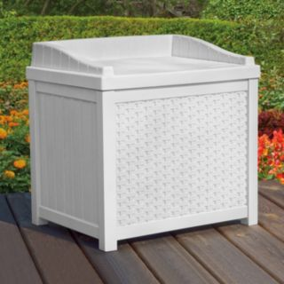 Suncast 22-Gallon Wicker Storage Seat