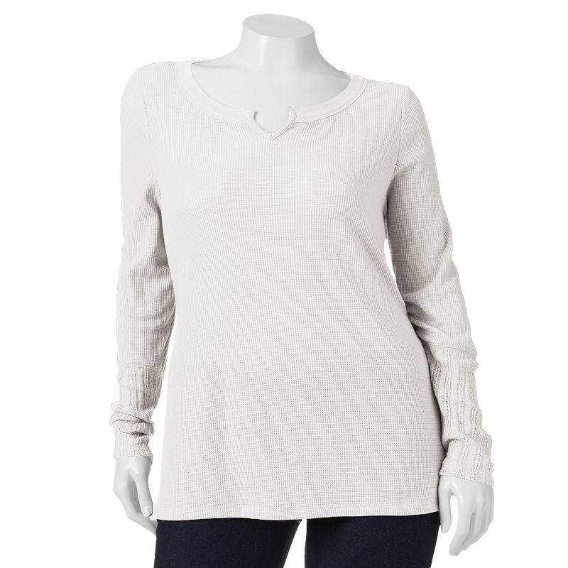 SONOMA life + style Cable-Knit Thermal Top - Women's Plus Size