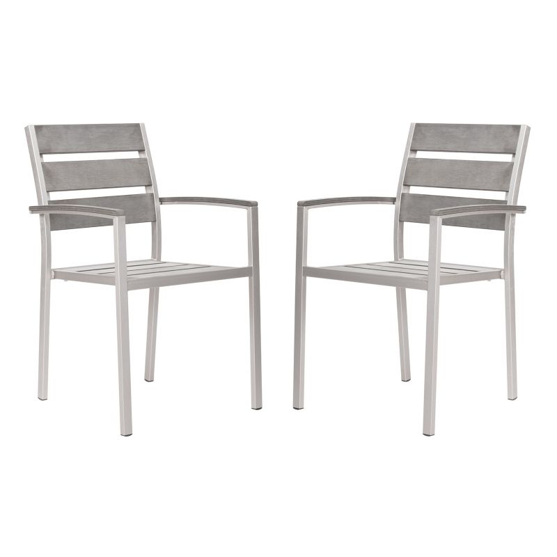 Set of two eucalyptus wood outdoor arm chairs product set of 2 - Wood Stackable Outdoor Furniture Kohl S