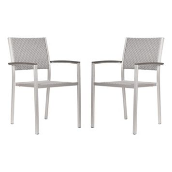 Zuo Vive Metropolitan 2-pc. Dining Arm Chair Set - Outdoor