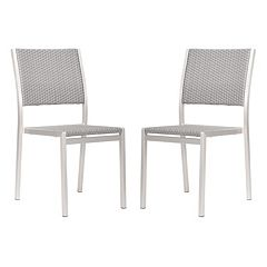 Zuo Vive Metropolitan 2 pc Dining Chair Set - Outdoor