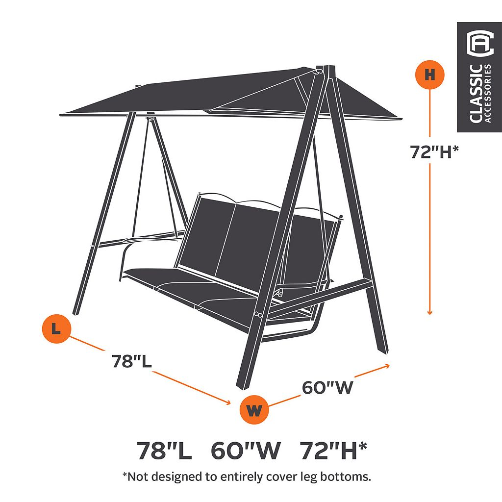 Classic Accessories Ravenna Canopy Swing Cover - Outdoor