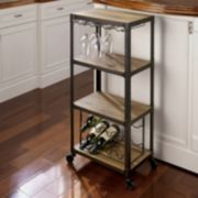 4-Tier Rolling Wine Rack