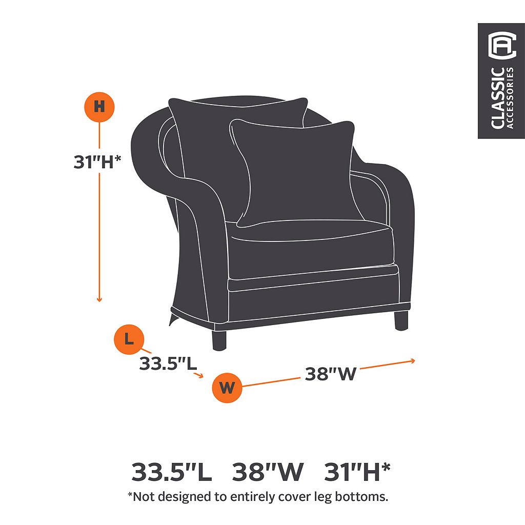Classic Accessories Ravenna Lounge Chair Cover - Outdoor