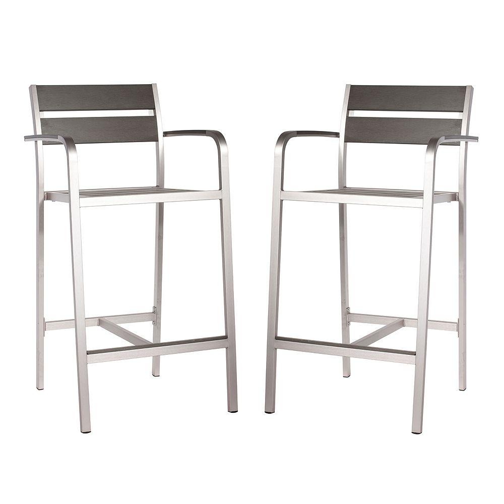 Zuo Vive Megapolis 2-pc. Bar Arm Chair Set - Outdoor