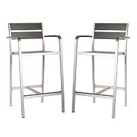 Zuo Vive Megapolis 2-pc. Bar Arm Chair Set - Outdoor