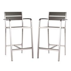 Zuo Vive Megapolis 2 pc Bar Arm Chair Set - Outdoor