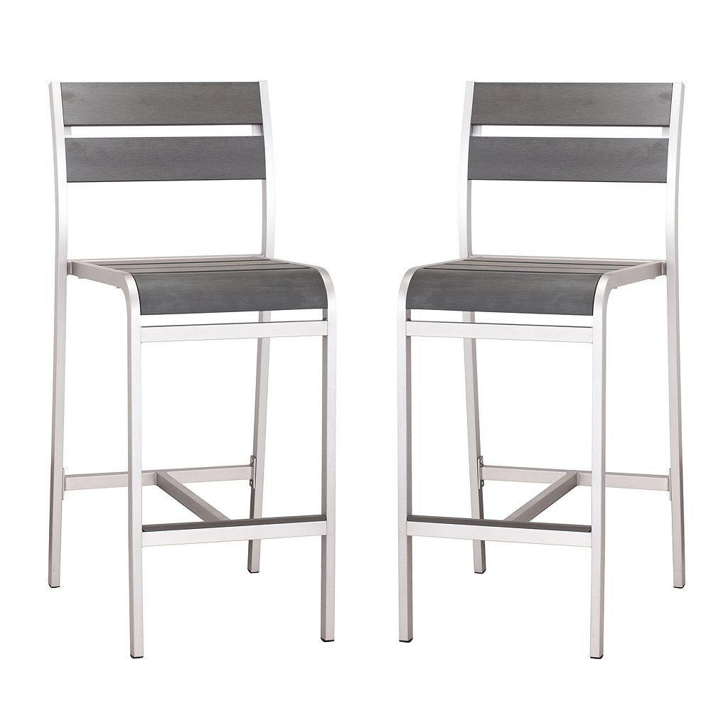 Zuo Vive Megapolis 2-pc. Bar Chair Set - Outdoor