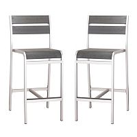Zuo Vive Megapolis 2-pc. Bar Chair Set - Outdoor