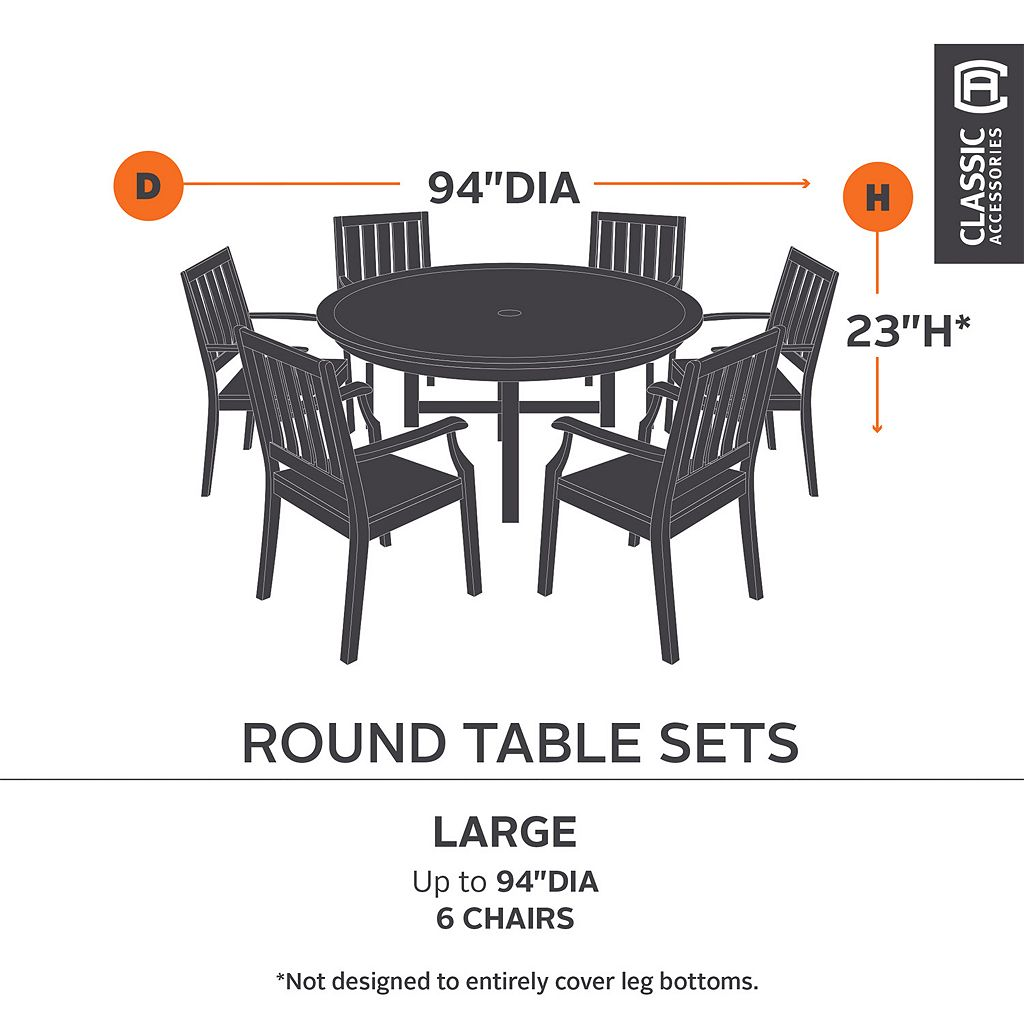 Classic Accessories Ravenna 96-in. Table and Chair Set Cover - Outdoor