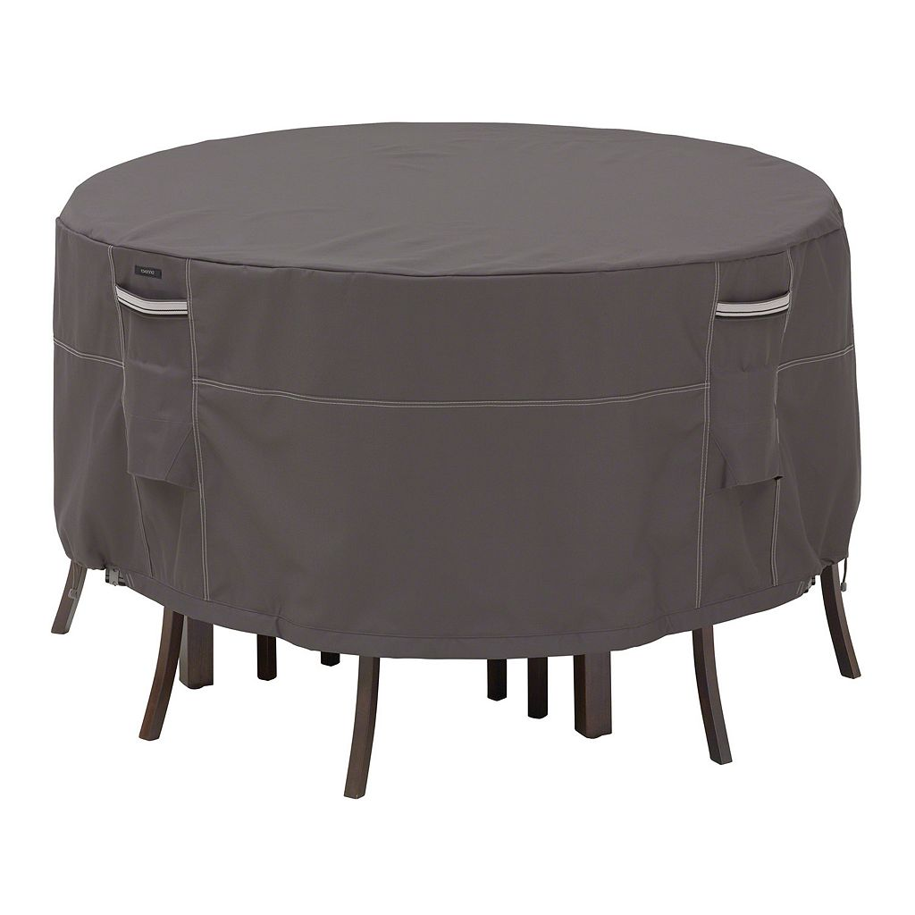 Classic Accessories Ravenna Round Patio Table and Chair Set Cover - Outdoor