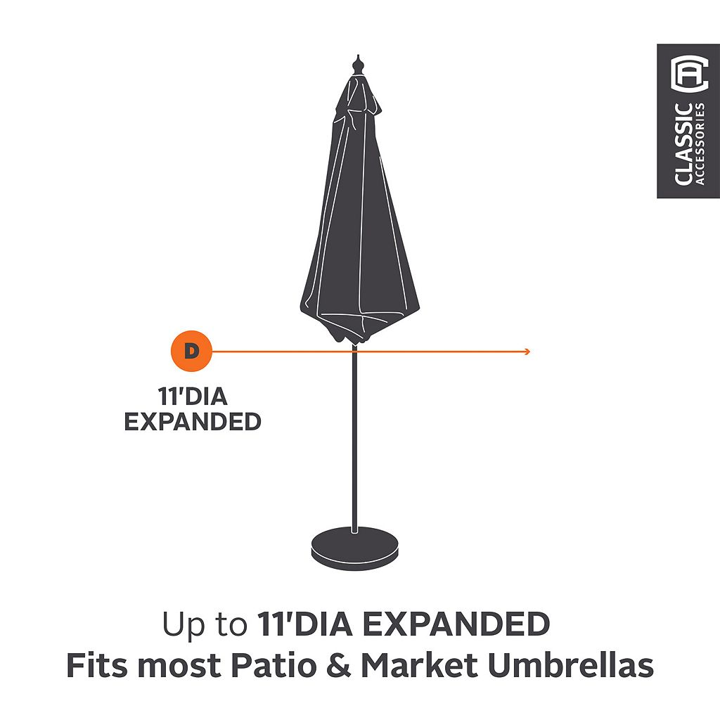 Classic Accessories Ravenna Patio Umbrella Cover - Outdoor