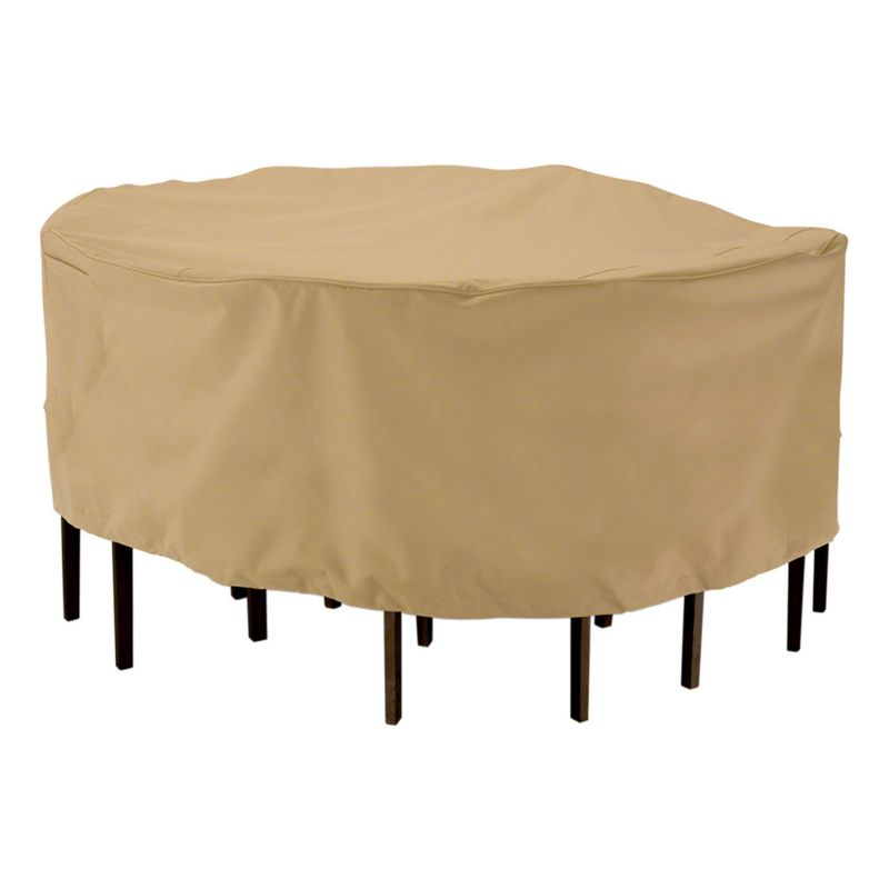 Classic accessories terrazzo round table amp chair cover
