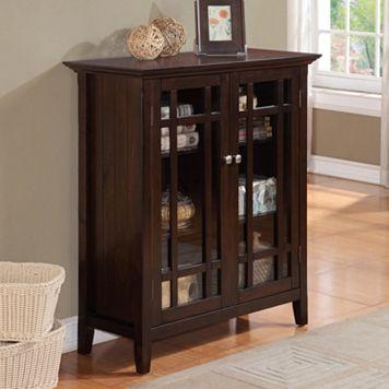 Simpli Home Bedford Storage Cabinet - Large