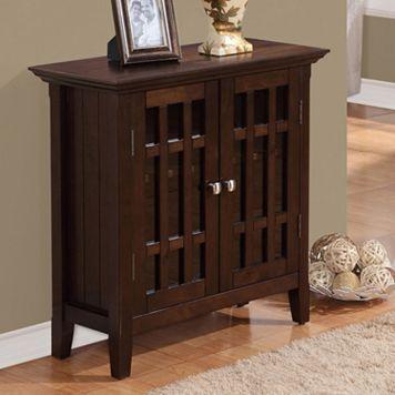 Simpli Home Bedford Storage Cabinet - Small
