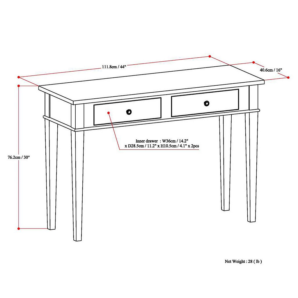 Simpli Home Carlton Console Table