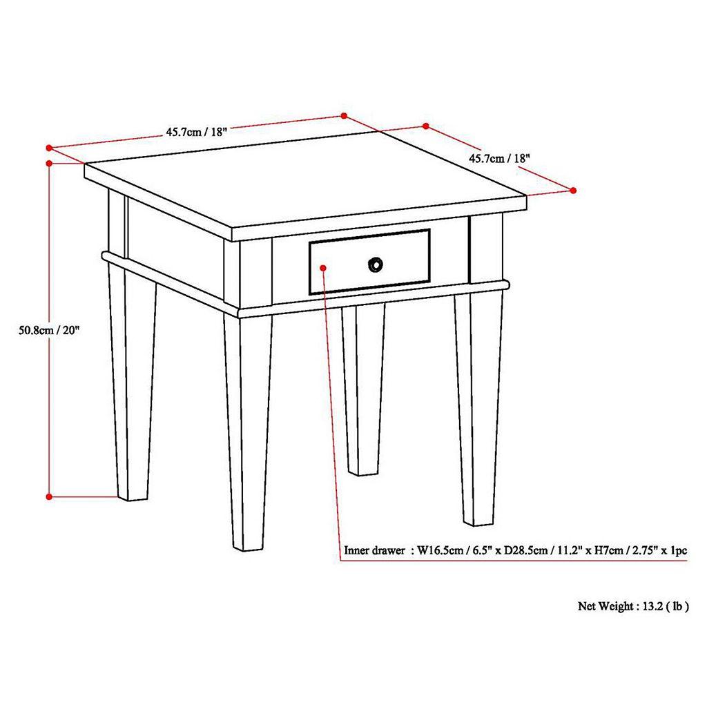 Simpli Home Carlton End Table