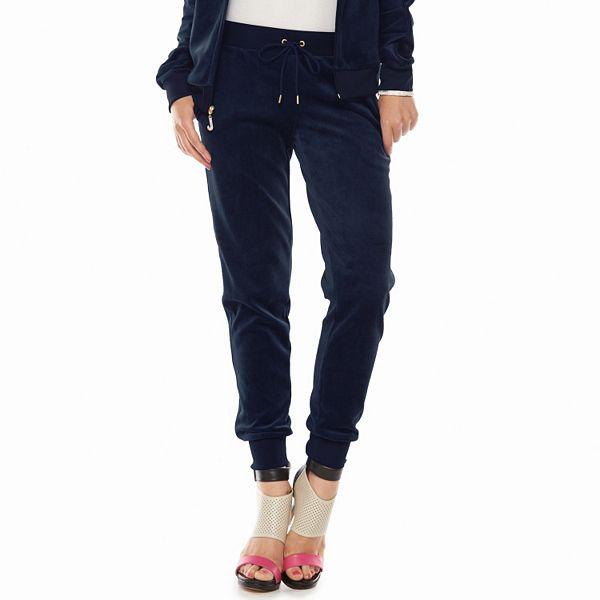 Juicy Couture Velour Jogger Pants Women S